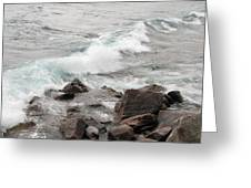 Icy Waves Greeting Card