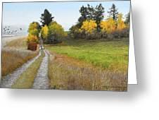 Idaho Backroad Autumn Greeting Card