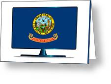 Idaho Flag Tv Greeting Card