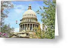 Idaho State Capitol In The Spring Greeting Card