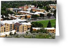 Idaho State University Upper Campus With Holt Arena Greeting Card