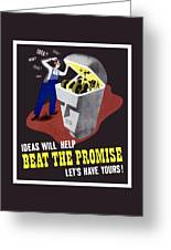 Ideas Will Help Beat The Promise Greeting Card