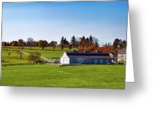 Idyllic Autumn Farm Greeting Card
