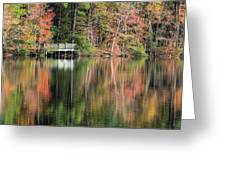 Idyllic Autumn Reflections Greeting Card