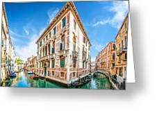 Idyllic Canal In Venice Greeting Card
