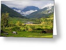 Idyllic Landscape Arunachal Pradesh Greeting Card