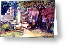 Idyllic Landscape Greeting Card