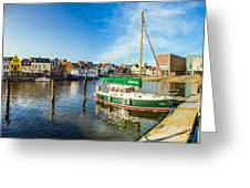 Idyllic North Sea Town Of Husum Greeting Card