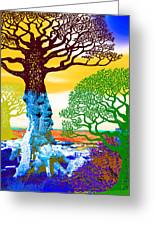 If A Tree Falls In Sicily Color 2 Greeting Card