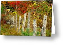 If I Could Paint No 1 - New England Fall Fence Greeting Card