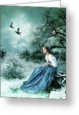 If Only I Had Wings Greeting Card by Julie L Hoddinott