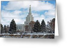 If Temple After Snow Greeting Card