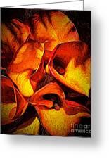 If Van Gogh Painted Calla Lilies Greeting Card
