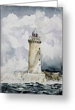 ighthouse Kereon Ouessant island Britain Greeting Card