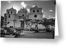 Iglesia Ciudad Vieja - Guatemala Bnw Greeting Card