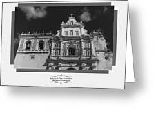 Iglesia San Francisco - Antigua Guatemala Bnw Greeting Card