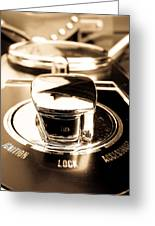 Ignition Lock Accessories Greeting Card