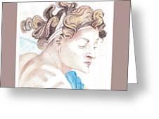Ignudo Sistine Chappel Michelangelo Greeting Card