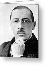 Igor Stravinsky, Russian Composer Greeting Card