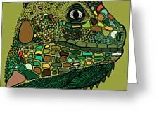 Iguana - Color Greeting Card