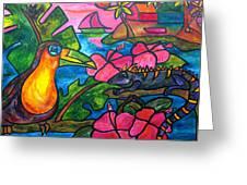 Iguana Eco Tour Greeting Card by Patti Schermerhorn