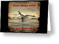 Iguana With Wings Greeting Card