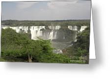 Iguassu Falls From Brazil Greeting Card