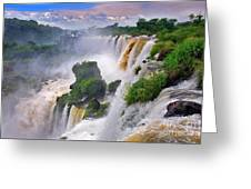 Iguazu Falls Ix Greeting Card