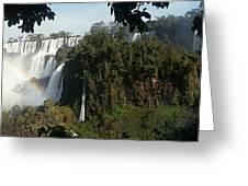 Iguazu Falls Panoramic View Greeting Card