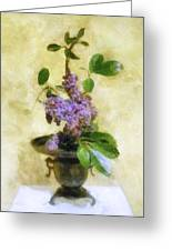 Ikebana Lilacs Greeting Card