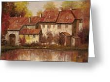 Il Borgo Rosso Greeting Card