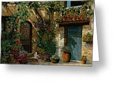 Il Giardino Francese Greeting Card by Guido Borelli