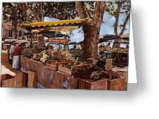 il mercato di St Paul Greeting Card