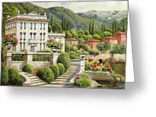 Il Palazzo Sul Lago Greeting Card