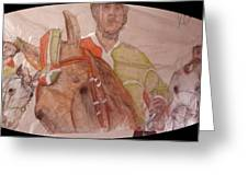 Il Palio On Silk Two Greeting Card