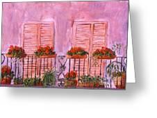 Il Terrazzo In Roma, II Greeting Card
