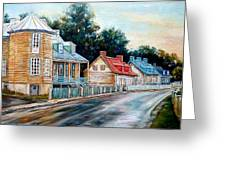 Ile D'orleans Quebec Street Scene Greeting Card