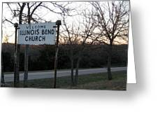 Illinois Bend Church Sign Greeting Card
