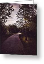 Illuminated Foot Path Greeting Card