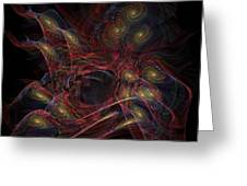 Illusion And Chance - Fractal Art Greeting Card