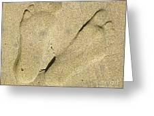 Illusionary Feet Greeting Card