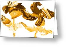 Illusions In Gold Greeting Card