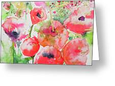 Illusions Of Poppies Greeting Card