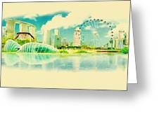 Illustration Of Singapore In Watercolour Greeting Card