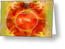 Illustration Of Tomato Greeting Card
