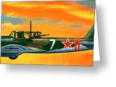 Ilyushin II 2m3 Russian Ground Attack Aircraft Greeting Card