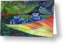 I'm In Love With A Big Blue Frog Greeting Card