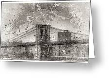 Im Selling The Brooklyn Bridge Or At Least A Photo Of It  Greeting Card