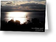 Image Included In Queen The Novel - Lighthouse Contrast Greeting Card