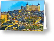 Image Of Portugal From The Road Greeting Card